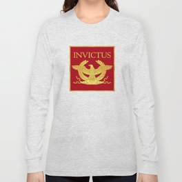 Invictus Eagle on Red Long Sleeve T-shirt