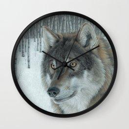 Wolf in Aspens Wall Clock