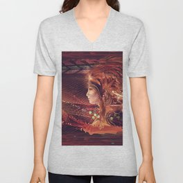 Shadow of a Thousand Lives - Visionary - Manafold Art Unisex V-Neck