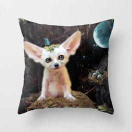Blue Moon Throw Pillow