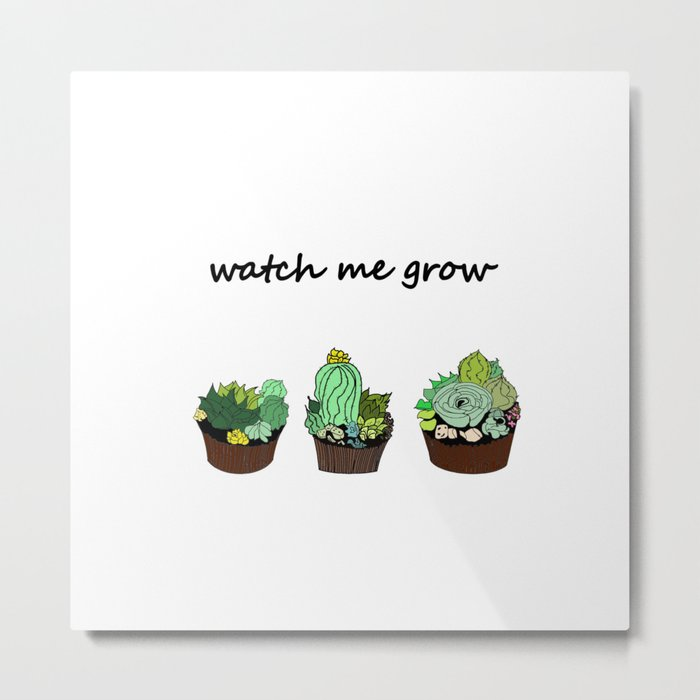 little green cactuses ( https://society6.com/totalflora/collection ) Metal Print