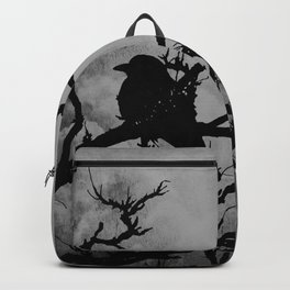 Dramatic Crow Birds Raven on Branch Stormy Sky Home Decor Wall Art A526 Backpack