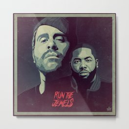 RUN THE JEWELS Metal Print