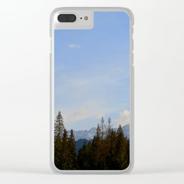 Blue Skies - Zakopane Clear iPhone Case