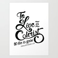 verse Art Prints featuring Typographic Verse by Ruthie Designs