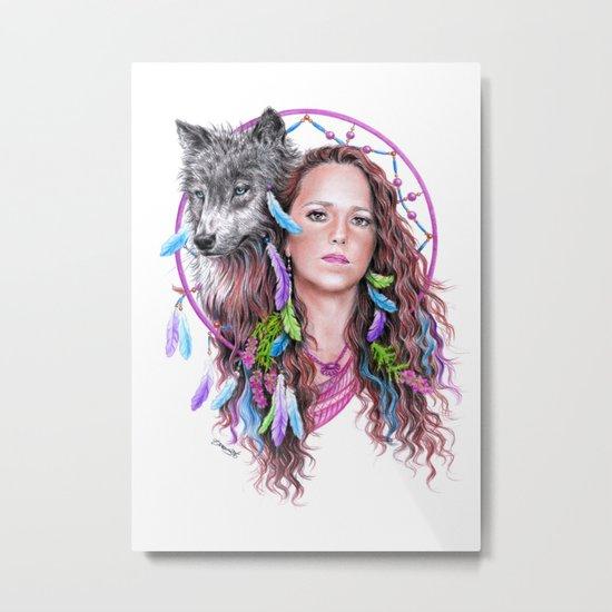Heather Metal Print
