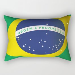 Brasil Nation flag travel poster Rectangular Pillow