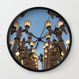 LACMA Lights photography Wall Clock