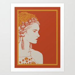 Saturated Silhouette Art Print
