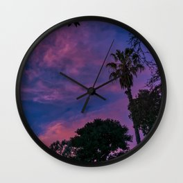 Watching the Clouds at Sunset Wall Clock