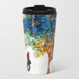 Colorful Landscape Art - The Dreaming Tree - By Sharon Cummings Travel Mug