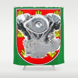 Shield of Portugal Knuckle Shower Curtain
