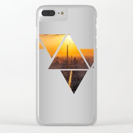 Triangles 3 Clear iPhone Case