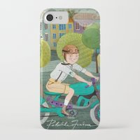 motorcycle iPhone & iPod Cases featuring Motorcycle by Rebekka Ivacson