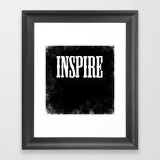 Inspire - a Chalkboard Message Framed Art Print