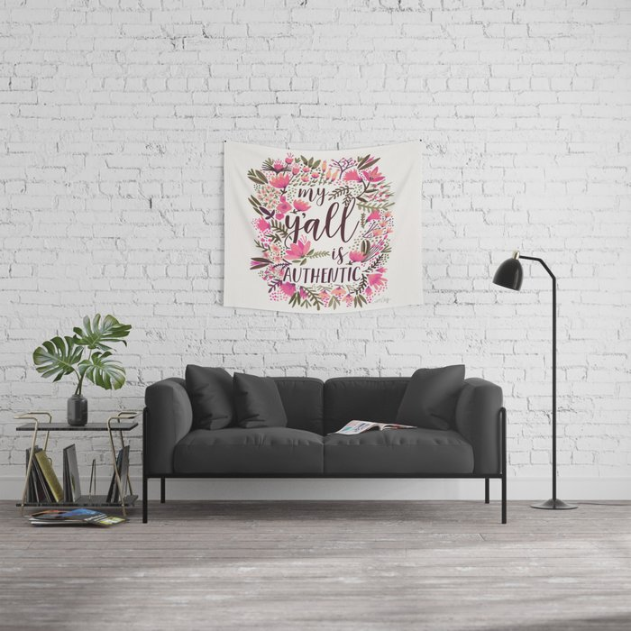 My Y'all is Authentic – Vintage Palette Wall Tapestry