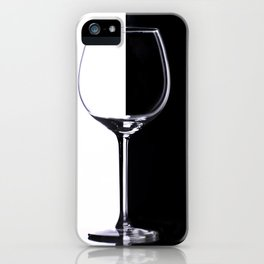 Black and White Glass iPhone Case