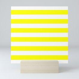 Mariniere marinière yellow Mini Art Print