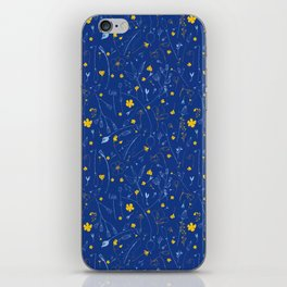 June Garden -Yellow and blue iPhone Skin