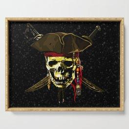 The Dark Eyes Of Pirates Serving Tray