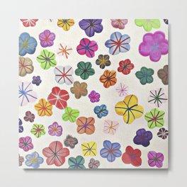 Floral art mille fiori Metal Print
