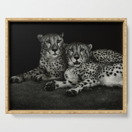Jake and Elwood, cheetah brothers Serving Tray