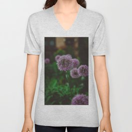 New York Alliums II Unisex V-Neck