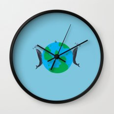 Blue Whales Love Song Wall Clock