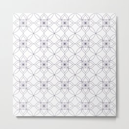Moroccan Tile Inspired Pattern - Purple Metal Print
