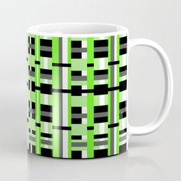 Plaid in Lime Green, Black & Gray Coffee Mug