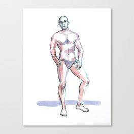 JORDAN, Semi-Nude Male by Frank-Joseph Canvas Print