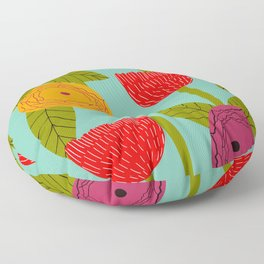 Sunny day bright floral Floor Pillow