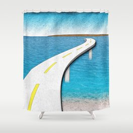 Road Work Ahead Shower Curtain