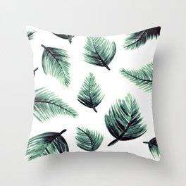 Danae-Leaves in the air Throw Pillow