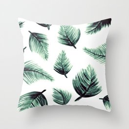 Danae-Leaves in the air Throw Pillow