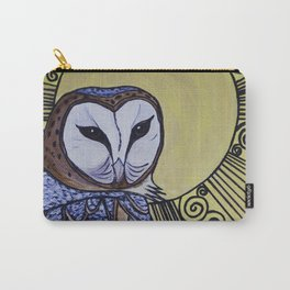 Barn Owl Art Nouveau Panel in yellow Carry-All Pouch