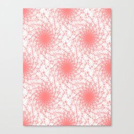 Pink And White Rotation Canvas Print