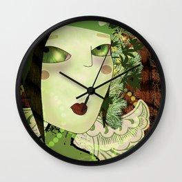 Green Fairie Wall Clock