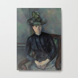 Madame Cézanne with Green Hat Metal Print