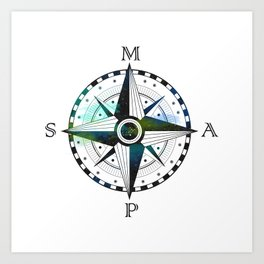 Maps 2 Art Print