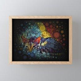 Resting Tabby Cat Circle Mosaic Framed Mini Art Print