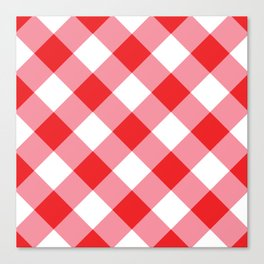 Gingham - Red Canvas Print