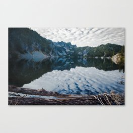 Snow Lake Canvas Print