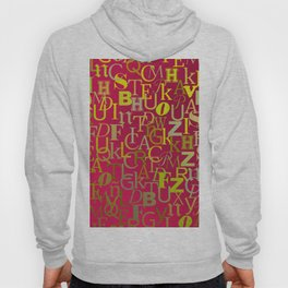 Golden alphabet soap over purple background Hoody