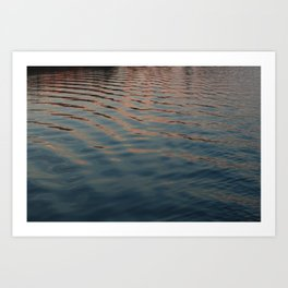 sunset ripples Art Print