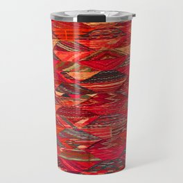 V35 Red Traditional Moroccan Artwork Pattern Travel Mug