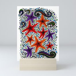 Happy Stars Mini Art Print