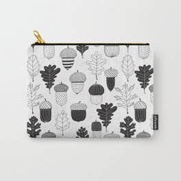 Acorns and oak leaves autumn pattern Carry-All Pouch