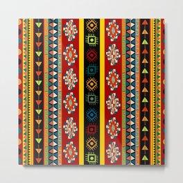 Various strips motifs design in colors  Metal Print