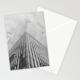 Freedom Tower Looking Up | New York City | Black and White Photography  Stationery Cards